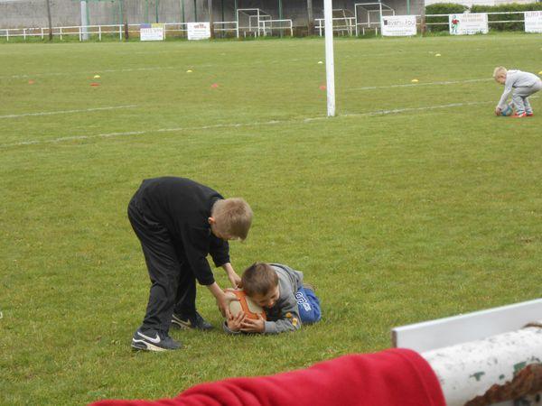 Antonin et son premier cours de rugby
