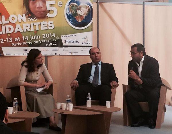 Raphaël PITTI au Salon des Solidarités à Paris, juillet 2014