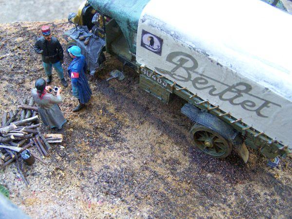 La suite du diorama WW1 du camion BERLIET CBA