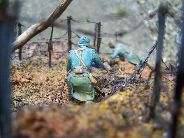un diorama sur la guerre des tranchées 1ère guerre mondiale, WWI.
