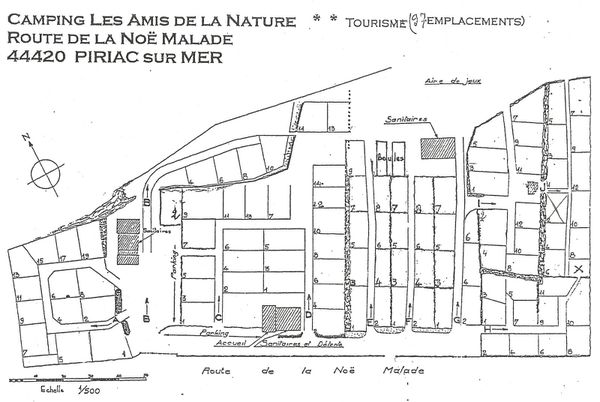 UT Amis de la Nature plan camping Piriac