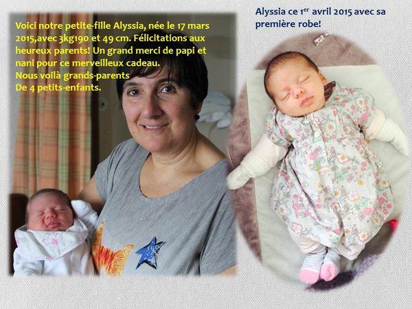 ALYSSIA,NOTRE 4ème PETIT-ENFANT