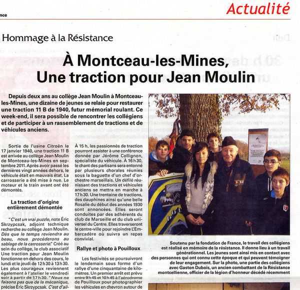 Article du journal la renaissance du 17 au 23 mai 2013
