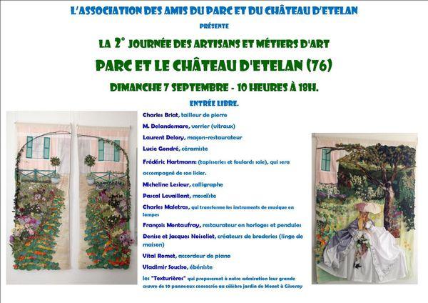 Pascal Levaillant à la 2ème journée des artisans et métiers d'art - Château d'Etelan (76) - 7 septembre 2014