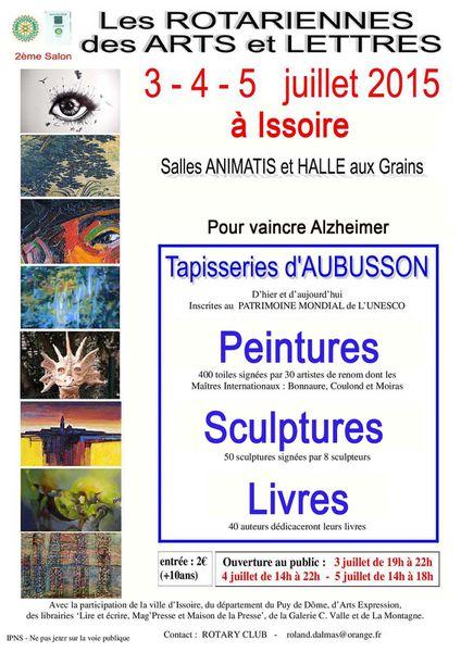 Exposition à Issoire début Juillet