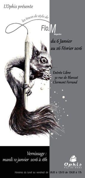 Exposition Flo.M à l'Ophis de Clermont Ferrand