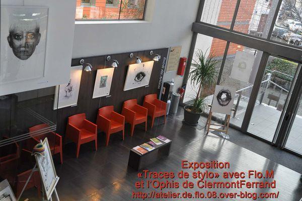 """Eposition """"Traces de stylo"""" de Flo.M à Clermont Ferrand"""