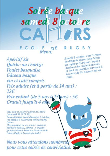 SOIREE BASQUE LE 08 OCTOBRE