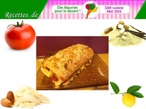 Biscuit roulé à la tomate