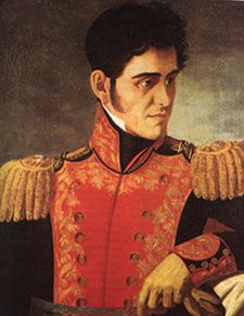 Le général Antonio Lopez de Santa Anna