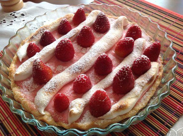 "✫¸.•°*""˜˜""*°•.✫Tarte aux fraises gourmande✫¸.•°*""˜˜""*°•.✫"