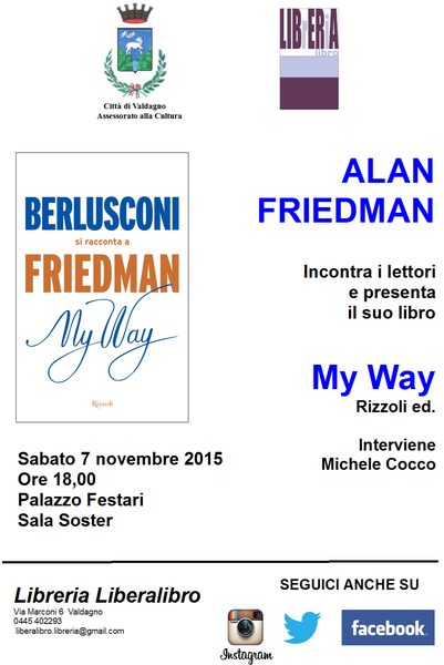ALAN FRIEDMAN presenta &quot&#x3B;MY WAY&quot&#x3B;