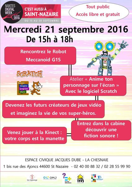 Digital Week le 21 septembre 15h-18h à la chesnaie