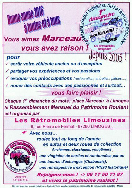 Rassemblement place Marceau à LIMOGES : le 1er dimanche de chaque mois...