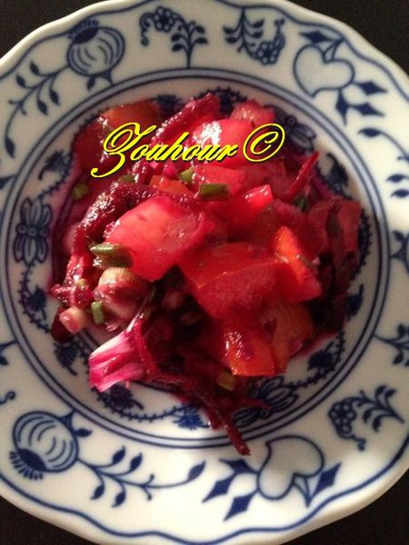 Betteraves en salade (Beet roots salad)