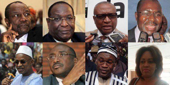 Les huit candidats à la présidentielle guinéenne. © AFP/Réseaux sociaux des candidats
