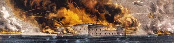 L'attaque du fort Sumter 12 et 13 avril 1861