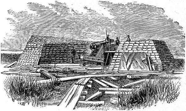 &quot&#x3B;L'ange des marais&quot&#x3B; le canon Parrott de Morris Island
