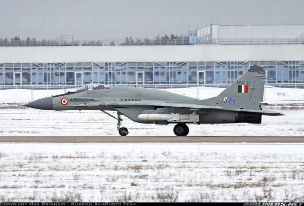 Un MIG-29 indien s'écrase