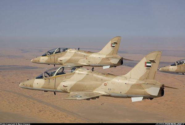 Un appareil d'entraînement s'écrase aux Emirats Arabes Unis