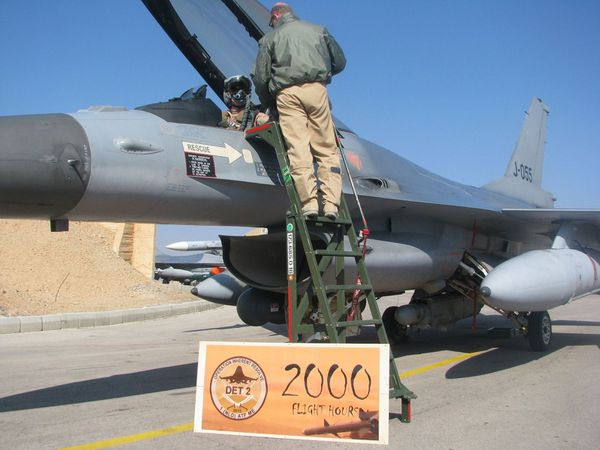 Les F-16A néerlandais ont effectué 2.000 heures de vol au-dessus de l'Irak
