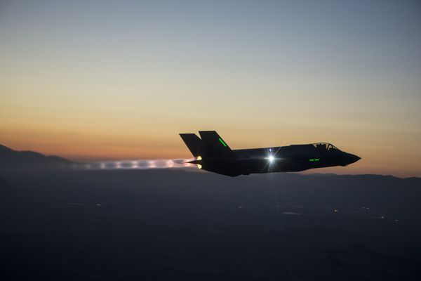Photo : (c) Lockheed Martin - Vol de nuit pour ce F-35A, destiné à l'US Air Force.