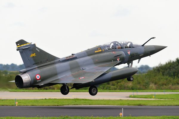Photo : (c) Klaas Keizer - Atterrissage d'un Mirage 2000D sur la base aérienne de Leeuwarden.