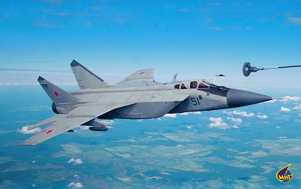Photo : (c) Russian Aircraft Corporation - Ravitaillement en vol d'un Mig-31 «Foxhound»