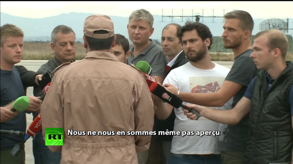 Photo : (c) Russia Today - Interview du navigateur russe qui a survécu au crash.