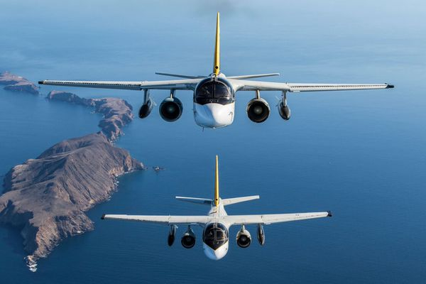 Photo : © US Navy - Dernier vol des S-3B Viking
