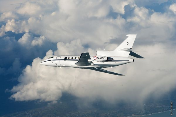 Photo : © C. Cosmao / Dassault Aviation - Falcon 50MI lors d'une mission SURMAR.