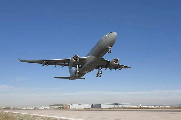 Photo : © UK MoD - Décollage d'un A330 MRTT de la Royal Air Force.