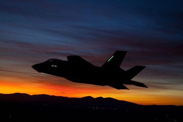 Photo : © Lockheed Martin - Vol de nuit d'un F-35A