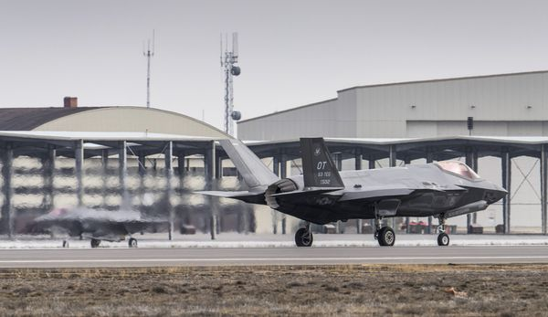 Photo : © US Air Force - Arrivée des F-35A de l'USAF à Mountain Home AFB.