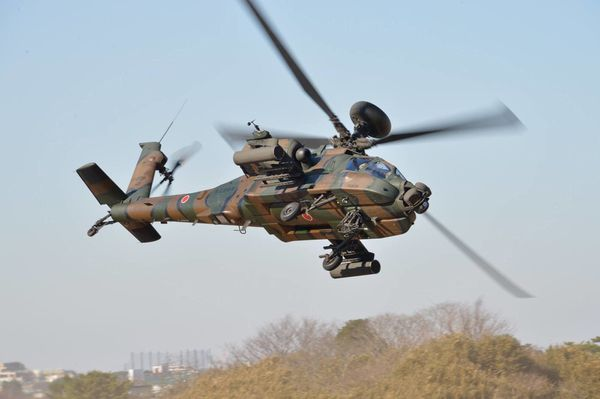 Photo : © JGSDF - Hélicoptère AH-64D Apache Longbow de la Japan Ground Self-Defense Force