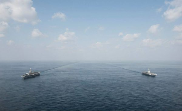 Exercice conjoint entre l'US Navy et la Marine Nationale (actualisé)