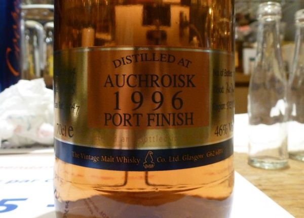 Auchroisk 1996/2014 (18 ans) Coopers Choice, Port Finish, 46%