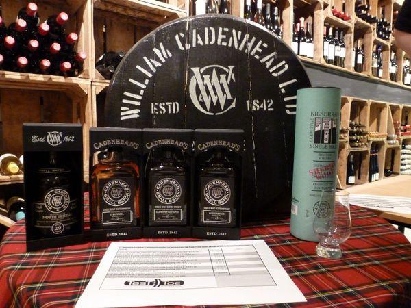 Compte rendu: WhiskyCafé Cadenhead et Kilkerran chez TasTToe le 07/09/2015