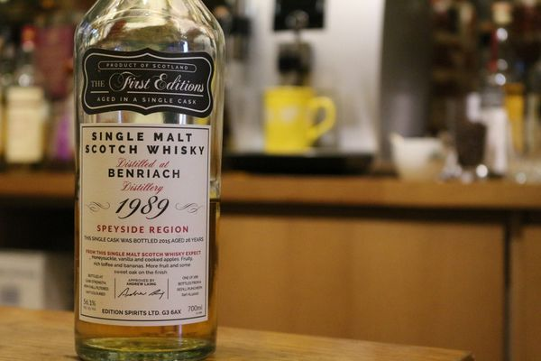 BenRiach 1989/2015 The First Editions, 26 ans, 56.1%