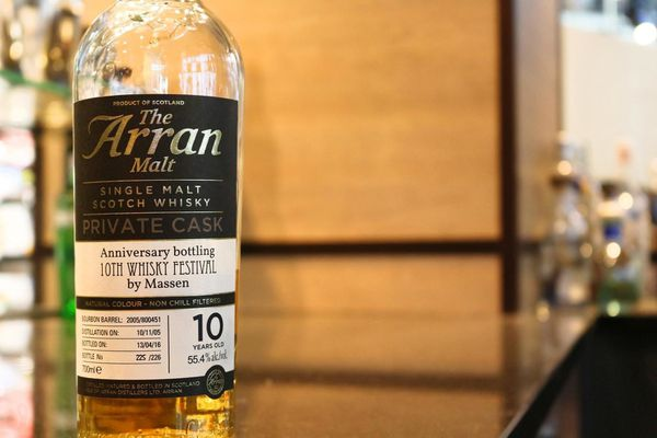 Arran 10 ans Anniversary bottling 10th Whisky Festival by Massen, 2005/2016, 55.4% (OB)