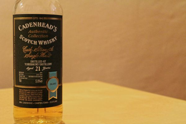 Tobermory 21 ans Cadenhead's Authentic Collection, 1995/2016, 53.8%