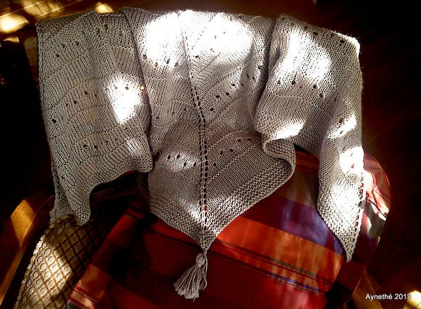 Un châle tout simple, simple shawl !