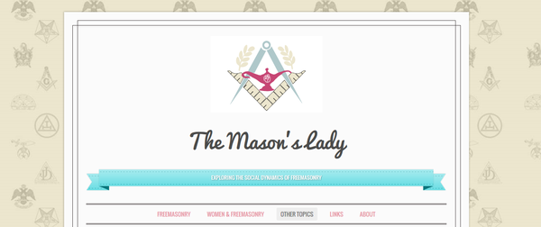 "le blog ""The Mason's Lady"""