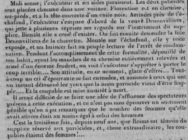 Extrait d'un article de 1827.
