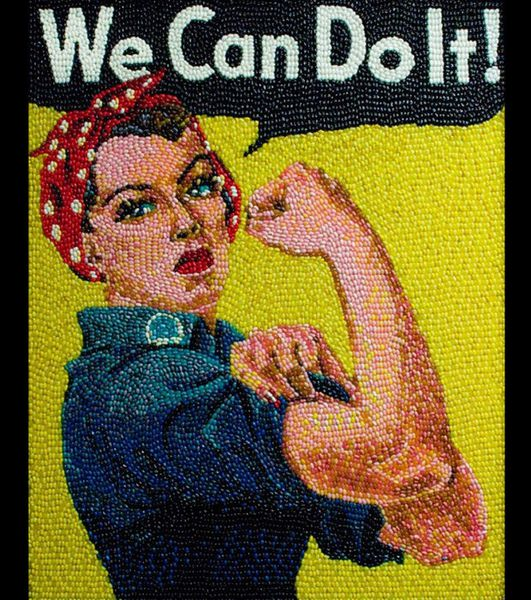 "We can do it"" par J.Howard Miller (en bonbons)"