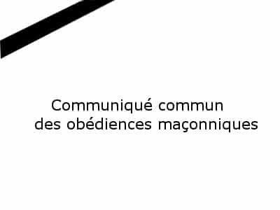 Nice : un communiqué commun.