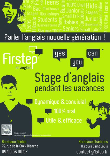 Stage vacances en anglais avec Firstep