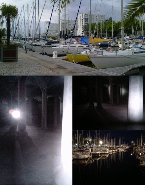 Lorient by night and by grandes marées