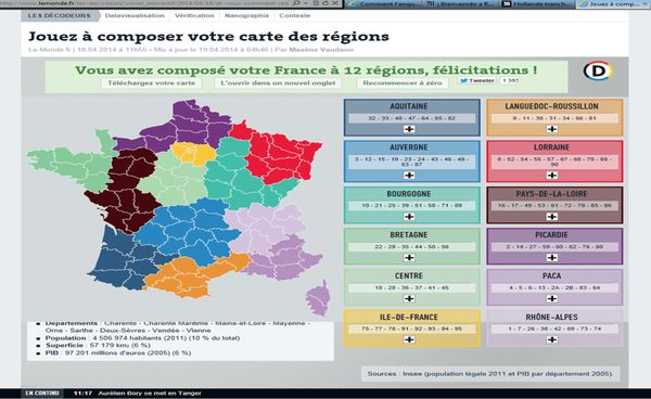 J'ai redessine la carte des regions !