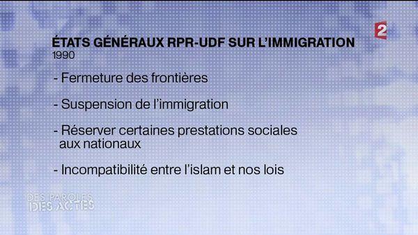 Les conclusions des Etats Généraux du RPR-UDF en 1990